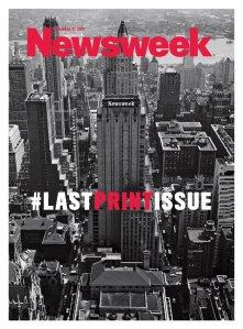 Last Print Issue of Newsweek Magazine